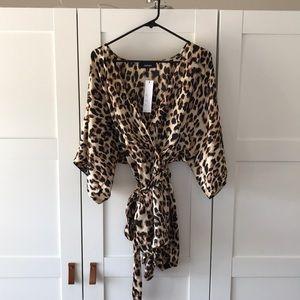Kimono tie romper
